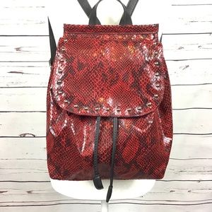 Wild Fable Faux Snakeskin Stud Drawstring Backpack